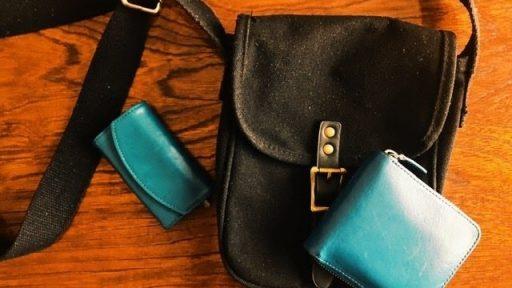 「ラウンド二つ折り財布/ピーコックブルー」 八重洲店  石井さん