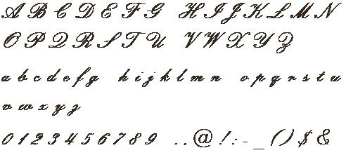 刻印できる文字