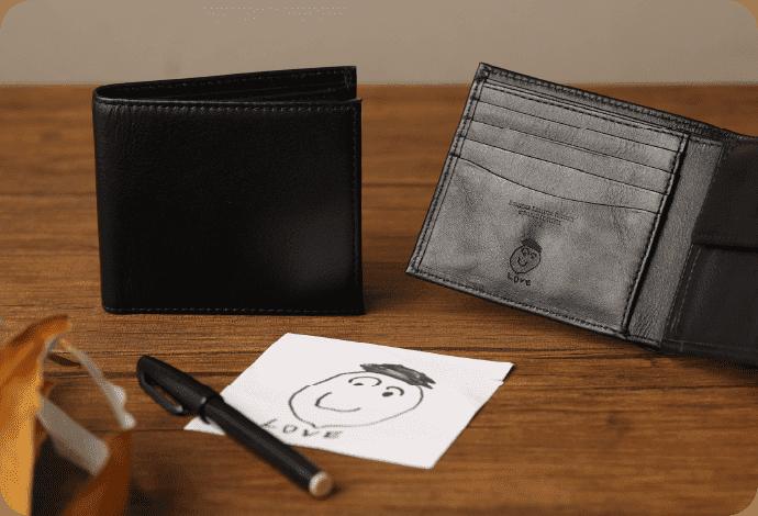 二つ折り財布(小銭入れあり)